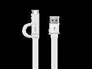 AP55 HUAWEI kabel microUSB + Typ C white bulk