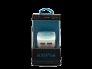 ATC-2U AXIVER ładowarka sieciowa 2 USB 2.1A white box