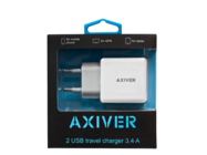 ATC34-2U AXIVER ładowarka sieciowa 2 USB 3.4A white box