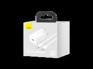 Baseus ładowarka sieciowa Super Si PD 20W 1x USB-C + kabel USB-C - Lightning white box