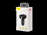 Baseus transmiter FM T-Type S-09A CCALL-TM01 Bluetooth MP3 ładowarka samochodowa czarna box