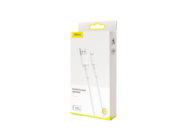 CALSW-02 Baseus kabel USB - Lightning 1m 2,4A white box