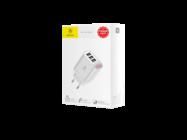 CCALL-BH02 Baseus ładowarka sieciowa z wyświetlaczem Mirror Lake 3xUSB 3,4A white box