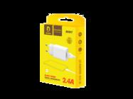 DENMEN ładowarka sieciowa DC01 2.4A + kabel TYP-C 2400mAh 12W white box
