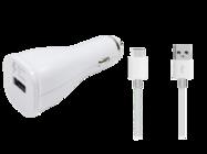 EP-LN915  Samsung ładowarka samochodowa white bulk + kabel EP-DN930
