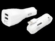 EP-LN920 Samsung ładowarka samochodowa white bulk + kabel ECB-DU4EWE plastic