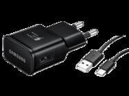 EP-TA20EBE Samsung ładowarka sieciowa black bulk + kabel DG950CBE