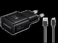 EP-TA20EBE Samsung ładowarka sieciowa black bulk + kabel ECB-DU5ABE