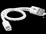 eXtreme kabel 30cm lightning white bulk