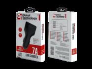 GT Quck Charge 3.0 ładowarka samochodowa 4xUSB 7A black box