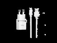 HOCO Ładowarka sieciowa C22A + kabel lightning 1USB 2,4A white box