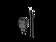 HOCO Ładowarka sieciowa C77A + kabel typ-C 2USB 2,4A black box