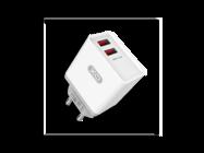 L31 XO ładowarka 2xUSB 2,4A white box + kabel Typ-C