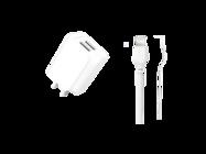 L35D XO ładowarka sieciowa 2xUSB 2,1A + kabel lightning white box