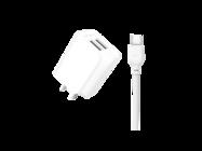 L35D XO ładowarka sieciowa 2xUSB 2,1A + kabel Typ-C white box