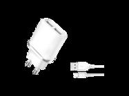 L52 XO ładowarka 2xUSB 2,1A white box + kabel micro