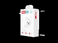 L60 XO Ładowarka sieciowa double 18W USB QC3.0 / PD USB-C white box