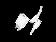 L64 XO ładowarka sieciowa 18W USB QC3.0/PD Typ-C + kabel lightning white box