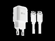 MCS-N04ER LG ładowarka sieciowa 3A white bulk + kabel Typ-C EAD63687001/2