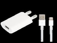 MD813ZM/A A1400 Apple ładowarka sieciowa + kabel MD818ZM/A FLEXTRONICS white bulk