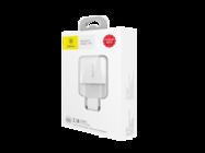 Mini Dual-U Baseus ładowarka sieciowa 2xUSB 2,1A white box