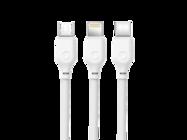 NB103 XO kabel3w1 1m 2,1A white bulk