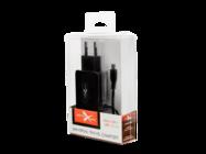 NTC21MU eXtreme ładowarka sieciowa micro USB+USB 2.1A black box