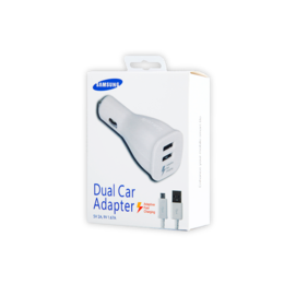 EP-LN920U Samsung ładowarka samochodowa white box + kabel ECB-DU4EWE plastic