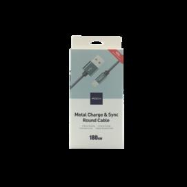 RCB0432 ROCK kabel Lightning nylon szary box