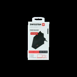 Swissten ładowarka sieciowa USB-C PD 3,0 45W black box