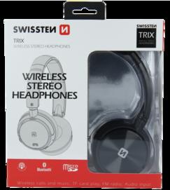 TRIX SWISSTEN bezprzewodowy zestaw słuchawkowy black retail