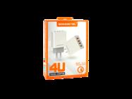 SMS-A08 Somostel ładowarka sieciowa +3A+2,4A 4xUSB QC 3,0 white box