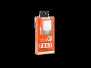 SMS-A12 Somostel ładowarka sieciowa + kabel microUSB 3,1A QC 3,0 white box