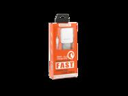 SMS-A12 Somostel ładowarka sieciowa + kabel Typ-C 3,1A QC 3,0 white box