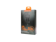 SMS-A15 Somostel ładowarka samochodowa 1A 2xUSB + kabel microUSB 2,1A black box
