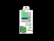 SMS-A53 Somostel ładowarka sieciowa + kabel lightning 2A 2xUSB green box
