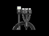 SMS-BW03 Somostel kabel 3w1 3,4A QC 3,0 1,2M black box