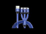 SMS-BW03 Somostel kabel 3w1 3,4A QC 3,0 1,2M blue box