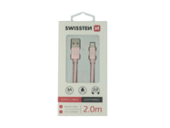 SWISSTEN kabel Lightning 2m rose/gold box