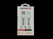 SWISSTEN kabel Lightning 2m silver box