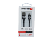 SWISSTEN kabel MicroUSB 1,2m black box