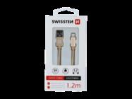 SWISSTEN kabel MicroUSB 1,2m gold box