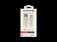 SWISSTEN kabel USB-C/Lightning 1,2m silver MFi box