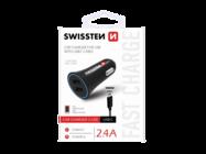 SWISSTEN ładowarka samochodowa 2x USB 2.4A black box + kabel Typ-C