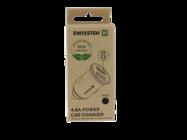 Swissten ładowarka samochodowa 2x USB 4,8A metal ECO PACK black box