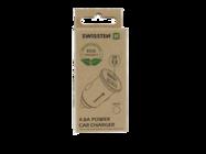 Swissten ładowarka samochodowa 2x USB 4,8A metal ECO PACK silver box