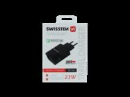 Swissten ładowarka sieciowa 2x USB QC 3.0 23W black box
