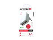 SWISSTEN ładowarka sieciowa 3A 2x USB Smart IC+ kabel microUSB whitebox