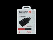 Swissten ładowarka sieciowa IPHONE 12 & SAMSUNG 25W black box