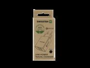 Swissten ładowarka sieciowa QC 3.0 23W 2x USB + USB ECO PACK black box